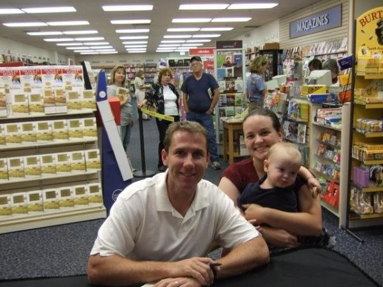 My son and I met Nicholas Sparks in 2007, at the release of his book, The Choice, in New Bern, NC.